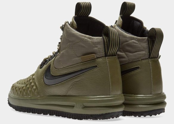 Фото Nike Lunar Force 1 Duckboot зеленые - 1