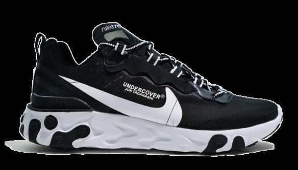 Фото Undercover x Nike react element 87 черные с белым - 1